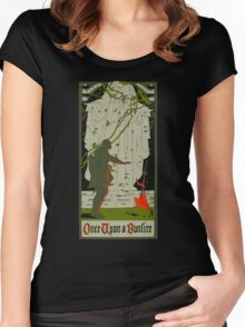 Once upon a bonfire Women's Fitted Scoop T-Shirt
