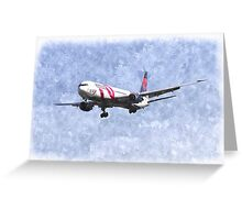 Delta Airlines Boeing 767 Art Greeting Card