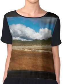 Paysage double-montage Chiffon Top