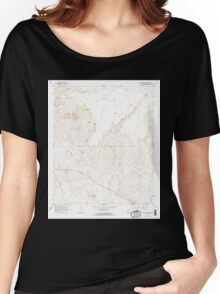 USGS TOPO Map Arizona AZ Mount Triplet 312504 1966 24000 Women's Relaxed Fit T-Shirt