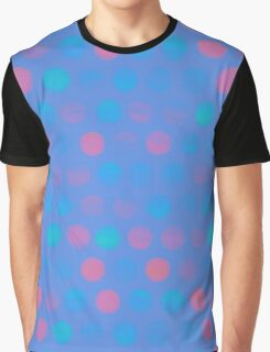 dots blue pink Graphic T-Shirt