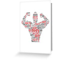 Fitness and healthy style Greeting Card