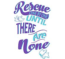 Rescue One by One Photographic Print