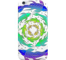Colorful Rainbow Fish Flow  iPhone Case/Skin