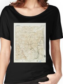 USGS TOPO Map Arizona AZ Clifton 314494 1902 62500 Women's Relaxed Fit T-Shirt