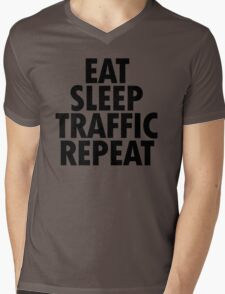 EAT SLEEP TRAFFIC REPEAT Mens V-Neck T-Shirt
