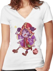 League of Undertale: Muffet x Lulu Women's Fitted V-Neck T-Shirt