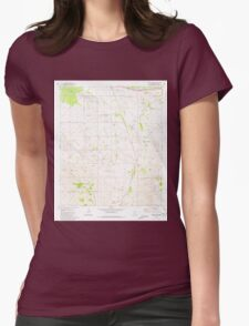 USGS TOPO Map Arizona AZ Mount Fagan 312483 1981 24000 Womens Fitted T-Shirt