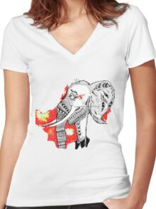 The elephant in the room Women's Fitted V-Neck T-Shirt