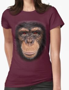 3D red eye monkey Womens Fitted T-Shirt