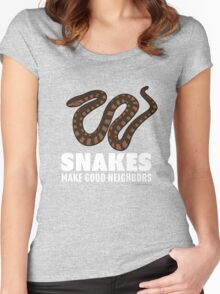 Snakes Make Good Neighbors Women's Fitted Scoop T-Shirt