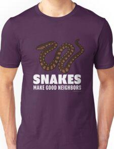 Snakes Make Good Neighbors Unisex T-Shirt