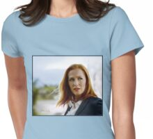Scully in the wind Womens Fitted T-Shirt