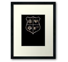 Nerd Crest Framed Print