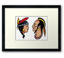 Sailor Tattoo Indians Framed Print