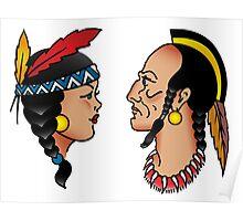 Sailor Tattoo Indians Poster