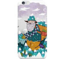 Mountain Guy and Owl Friend iPhone Case/Skin
