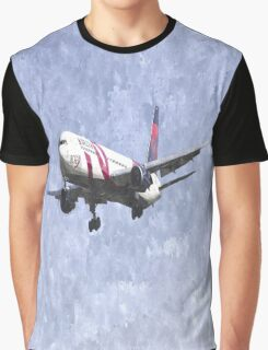 Delta Airlines Boeing 767 Art Graphic T-Shirt
