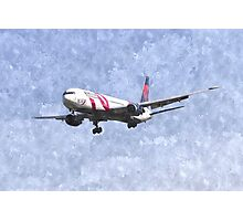 Delta Airlines Boeing 767 Art Photographic Print