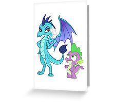 Princess Ember and Spike (My Little Pony) Greeting Card