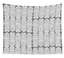 Modern Black and White Decorative Lace Pattern Wall Tapestry