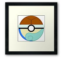 Squirtle Themed Complete Poke Ball Framed Print