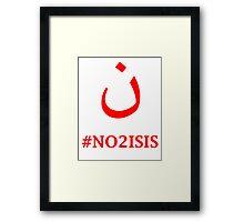 #NO2ISIS Framed Print