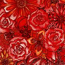 Red Flower Montage by Cherie Roe Dirksen