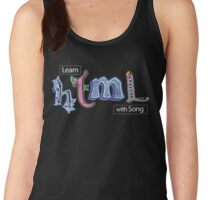 Hand-Drawn HTML Logo Women's Tank Top