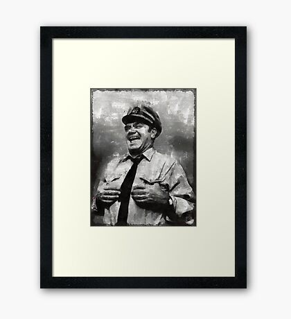 Ernest Borgnine Hollywood Actor Framed Print