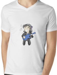 Fat Neko Rocker Mens V-Neck T-Shirt