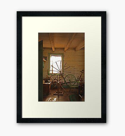 Spinning Yarn Framed Print