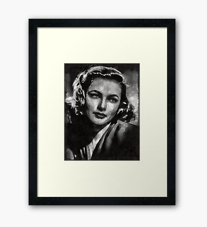 Gene Tierney Hollywood Actress Framed Print