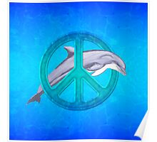 Dolphin Peace Poster