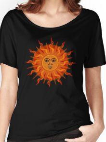Inca Sun Dots Painting Women's Relaxed Fit T-Shirt