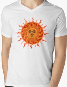 Inca Sun Dots Painting Mens V-Neck T-Shirt