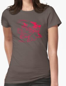 Girl With Trex Womens Fitted T-Shirt