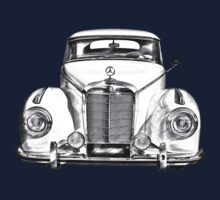 White Mercedes Benz 300 Luxury Car Drawing Kids Clothes