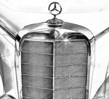 White Mercedes Benz 300 Luxury Car Drawing Sticker