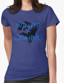 Team Mystic Winter is Coming Go - Black Womens Fitted T-Shirt