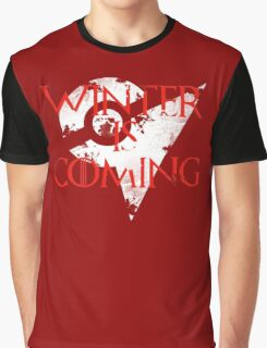 Team Valor Winter Is Coming Go - White Graphic T-Shirt