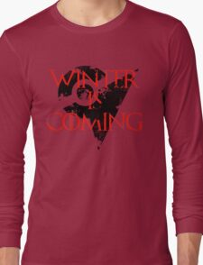 Team Valor Winter is Coming - Black Long Sleeve T-Shirt