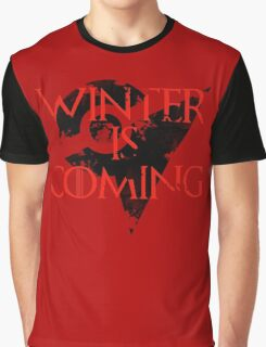 Team Valor Winter is Coming - Black Graphic T-Shirt