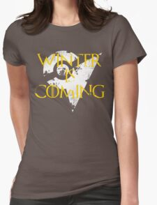 Team Instinct Winter is Coming - White Womens Fitted T-Shirt