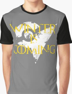 Team Instinct Winter is Coming - White Graphic T-Shirt