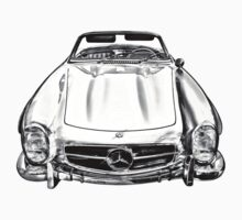 Mercedes Benz 300 SL Convertible illustration Kids Clothes
