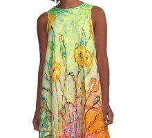 Rainbow Reflections A-Line Dress