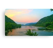 Potomac Sunset at Harpers Ferry Canvas Print