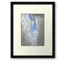 Melting Snow With Blue Sky Framed Print