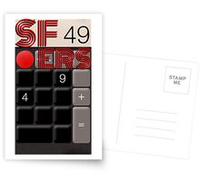 San Francisco 49ers Calculated Postcards